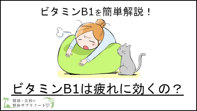 ビタミンB1は疲れに効果あるのか考えてみた?【B1の必要量も解説】TOP