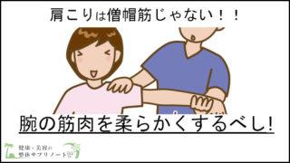 肩こりは僧帽筋ではなく【腕の筋肉】を柔らかくすれば解消する話TOP